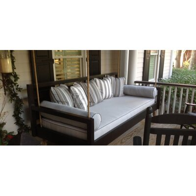 The Beautiful Beaufort Porch Swing Size: Twin, Finish: Green