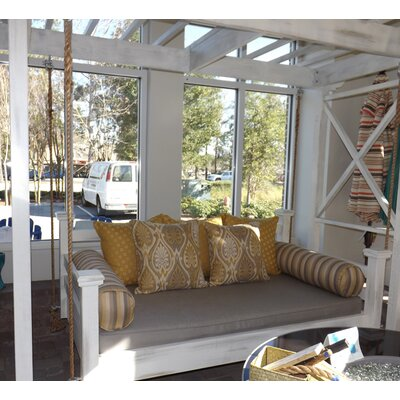 The Elegant Charleston Porch Swing Finish: White, Size: Twin