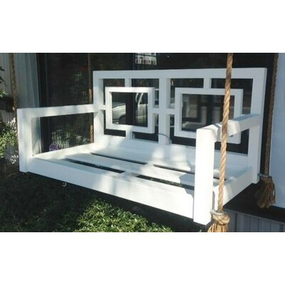 Excellent The Georgia Geometric Porch Swing Size Small Single Stain Product Photo