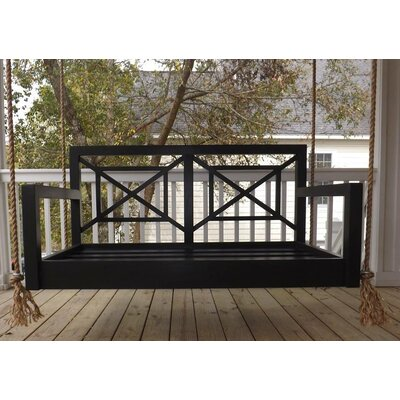 The Perfect Pawleys Porch Swing Finish: Black, Size: Small Single
