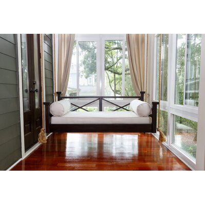 The Historic Hilton Head Porch Swing Bed Size: Small Single, Finish: Black
