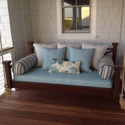 The Historic Hilton Head Porch Swing Bed Size: Small Single, Finish: Dark Stain