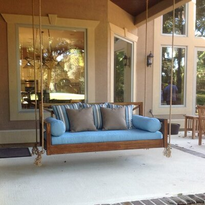 The Perfect Pawleys Porch Swing Finish: Light Stain, Size: Small Single