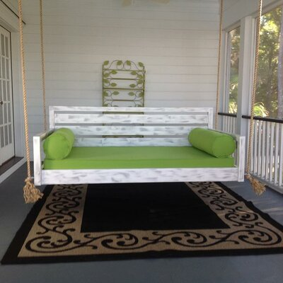 The Beautiful Beaufort Porch Swing Size: Small Single, Finish: White
