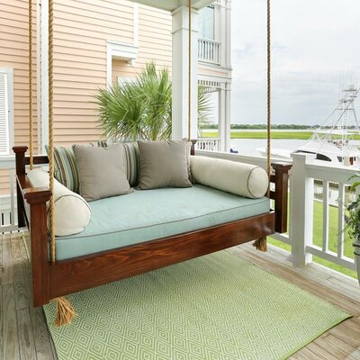 The Elegant Charleston Porch Swing Finish: Dark Stain, Size: Twin