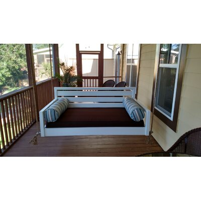 The Beautiful Beaufort Porch Swing Size: Twin, Finish: Blue
