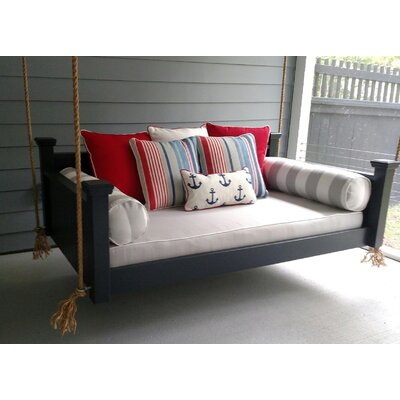 Southern Savannah Porch Swing Size: Small Single, Finish: Black