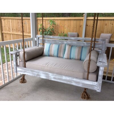 The Johns Islander Porch Swing Size: Twin, Finish: Grey Stain