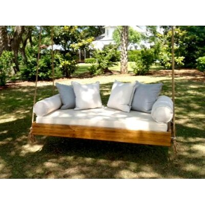 Porch Swing Finish: Light Stain, Size: Small Single