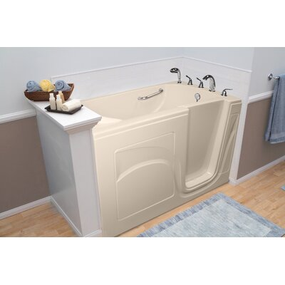 Navigator 54 x 30 Whirlpool and Air Jetted Walk-In Bathtub Finish: Biscuit, Drain Location: Right Side
