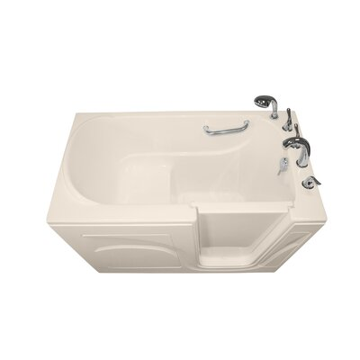 Navigator 54 x 30 Soaking Walk-In Bathtub Drain Location: Right Side, Finish: Biscuit