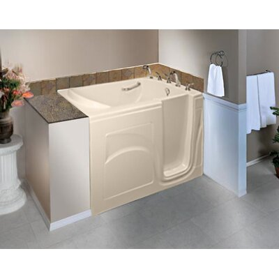 Navigator 54 x 30 Whirlpool Jetted Walk-In Bathtub Finish: Biscuit, Drain Location: Right Side