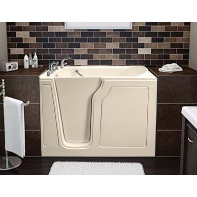 Dignity 48 x 28 Air Jetted Walk-In Bathtub Drain Location: Left Side, Finish: Biscuit