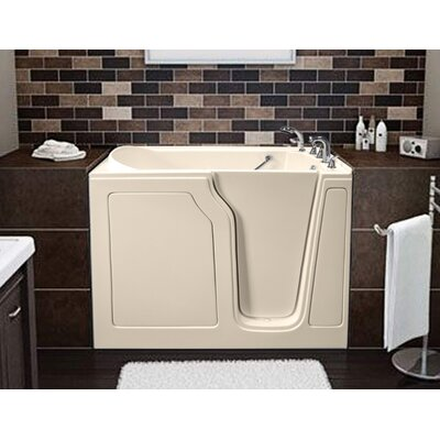 Dignity 48 x 28 Air Jetted Walk-In Bathtub Drain Location: Right Side, Finish: Biscuit
