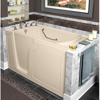 Dignity 48 x 28 Whirlpool and Air Jetted Walk-In Bathtub Finish: Biscuit, Drain Location: Left Side
