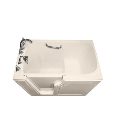 Dignity 48 x 28 Soaking Walk-ln Bathtub Drain Location: Left Side, Finish: Biscuit