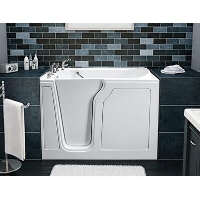 Dignity 48 x 28 Air Jetted Walk-In Bathtub Finish: White, Drain Location: Left Side