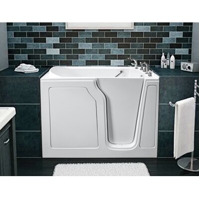 Dignity 48 x 28 Air Jetted Walk-In Bathtub Finish: White, Drain Location: Right Side