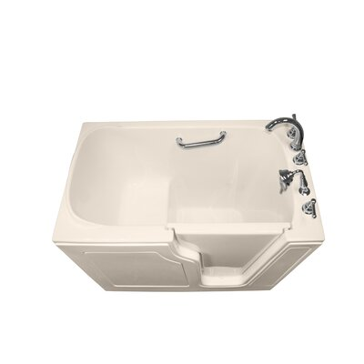 Dignity 48 x 28 Soaking Walk-ln Bathtub Finish: Biscuit, Drain Location: Right Side