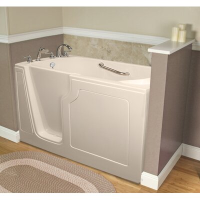 Dignity 48 x 28 Whirlpool Jetted Walk-In Bathtub Finish: Biscuit, Drain Location: Left Side