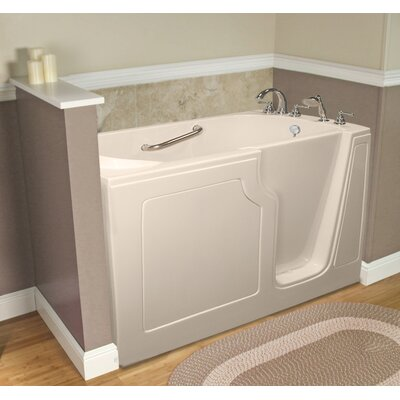 Dignity 48 x 28 Whirlpool Jetted Walk-In Bathtub Drain Location: Right Side, Finish: Biscuit