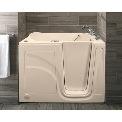 Lifeguard 52 x 30 Whirlpool and Air Jetted Walk-In Bathtub Drain Location: Right Side, Finish: Biscuit