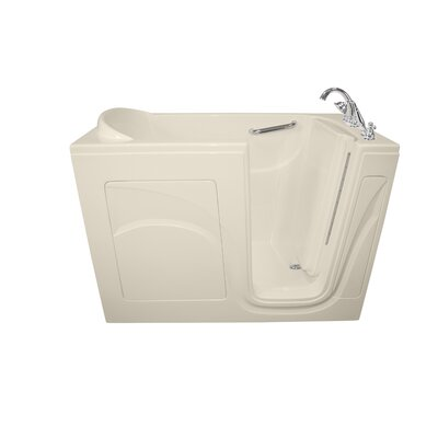 Navigator 54 x 30 Air Jetted Walk-In  Bathtub Drain Location: Right Side, Finish: Biscuit