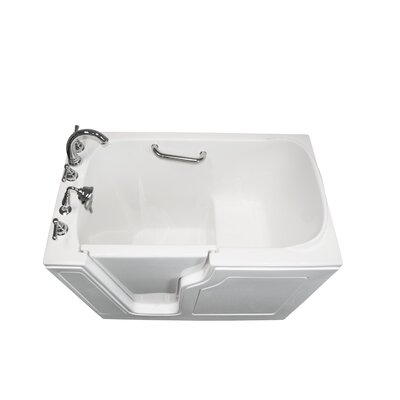 Dignity 48 x 28 Soaking Walk-ln Bathtub Finish: White, Drain Location: Left Side