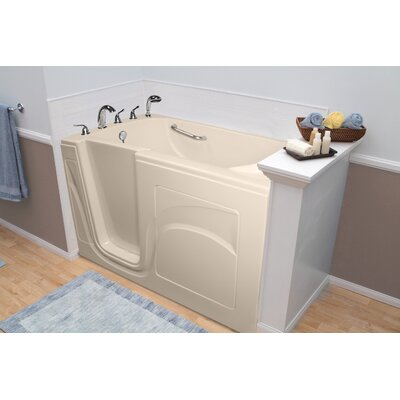 Navigator 54 x 30 Whirlpool and Air Jetted Walk-In Bathtub Finish: Biscuit, Drain Location: Left Side