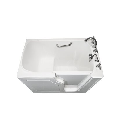 Dignity 48 x 28 Soaking Walk-ln Bathtub Finish: White, Drain Location: Right Side