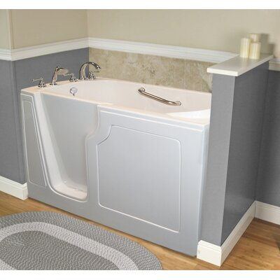 Dignity 48 x 28 Whirlpool Jetted Walk-In Bathtub Finish: White, Drain Location: Left Side