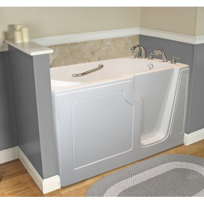 Dignity 48 x 28 Whirlpool Jetted Walk-In Bathtub Finish: White, Drain Location: Right Side