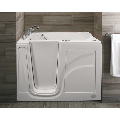 Lifeguard 52 x 30 Whirlpool and Air Jetted Walk-In Bathtub Finish: White, Drain Location: Left Side