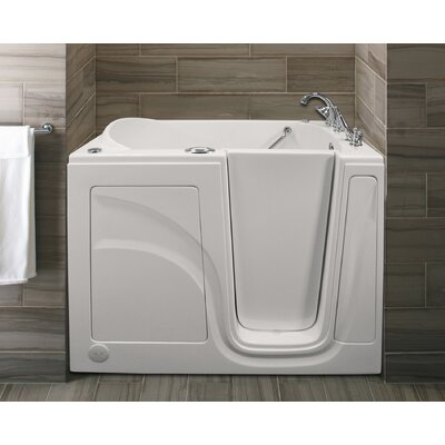 Lifeguard 52 x 30 Whirlpool and Air Jetted Walk-In Bathtub Finish: White, Drain Location: Right Side