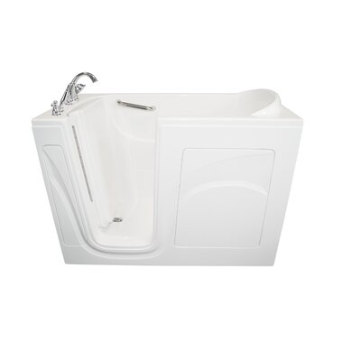 Navigator 54 x 30 Air Jetted Walk-In  Bathtub Finish: White, Drain Location: Left Side