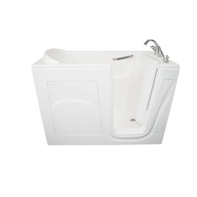 Navigator 54 x 30 Air Jetted Walk-In  Bathtub Finish: White, Drain Location: Right Side