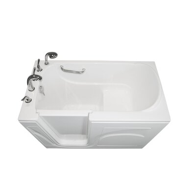 Navigator 54 x 30 Soaking Walk-In Bathtub Finish: White, Drain Location: Left Side
