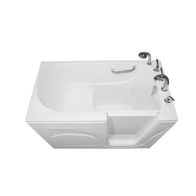 Navigator 54 x 30 Soaking Walk-In Bathtub Finish: White, Drain Location: Right Side