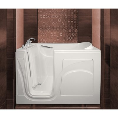 Navigator 54 x 30 Whirlpool Jetted Walk-In Bathtub Drain Location: Left Side, Finish: White