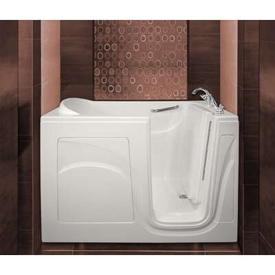 Navigator 54 x 30 Whirlpool Jetted Walk-In Bathtub Drain Location: Right Side, Finish: White