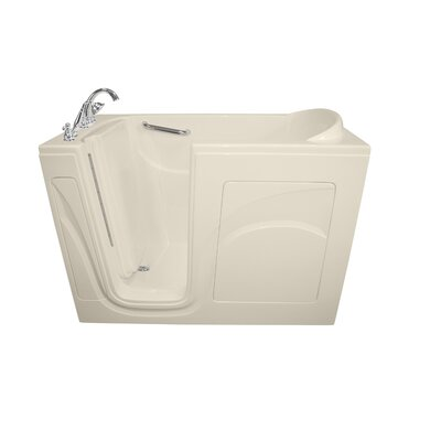 Navigator 54 x 30 Air Jetted Walk-In  Bathtub Drain Location: Left Side, Finish: Biscuit