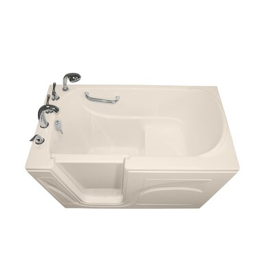Navigator 54 x 30 Soaking Walk-In Bathtub Finish: Biscuit, Drain Location: Left Side