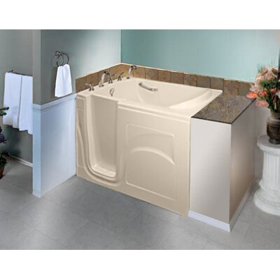Navigator 54 x 30 Whirlpool Jetted Walk-In Bathtub Finish: Biscuit, Drain Location: Left Side