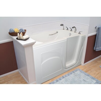 Navigator 54 x 30 Whirlpool and Air Jetted Walk-In Bathtub Drain Location: Right Side, Finish: White
