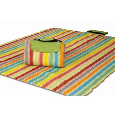 Mega Salsa Stripe Mat Rug Size: 4 x 5