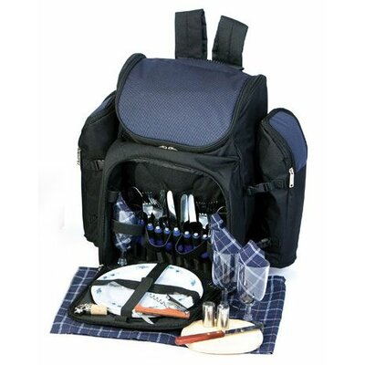 Tandoor 4 Person Deluxe Picnic Backpack PS4-458N