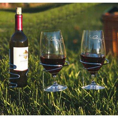 Glass Handy 1 Bottle Tabletop Wine Rack