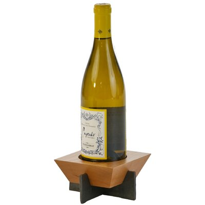 Lenhardt 1 Bottle Tabletop Wine Rack Finish: Cherry