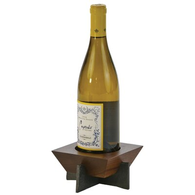 Lenhardt 1 Bottle Tabletop Wine Rack Finish: Walnut