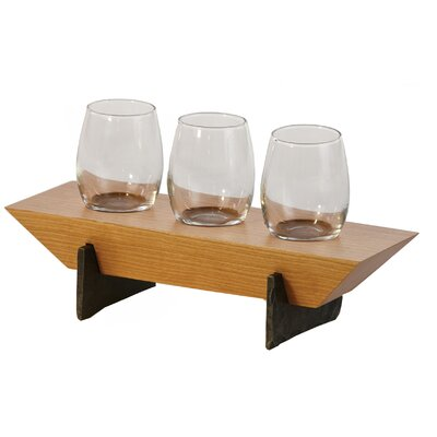 Lenhardt 4 Piece Tabletop Wine Glass Rack Finish: Cherry